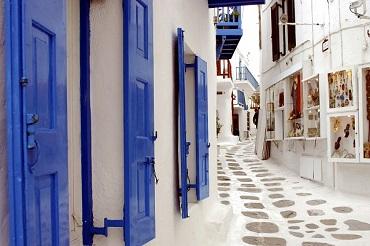 Calles de Mykonos Grecia